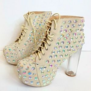 Jeffrey Campbell limited Crystal Lita Boots